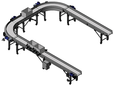 Precise Box Positioning Conveyor belt turn Systems