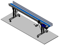 Narrow infeed Extrusion Take Away Conveyor