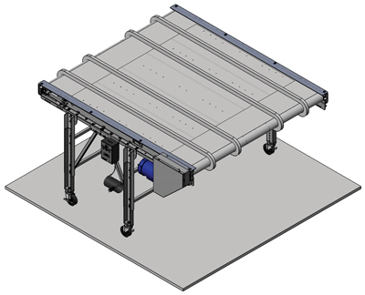 Extra Wide Conveyor for Plastic Parts