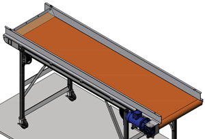 Silicone conveyor belting