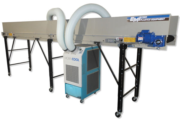 Parts Cooling Conveyors, Self Contained Cooling